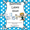 Bathroom Labels Blue