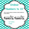 Ordinal Numbers to 10