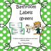 Bathroom Labels Green