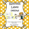 Bathroom Labels Yellow