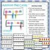 Addition Peg Cards: 10 Pages