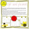 Sight Word Placemat Sample