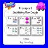 Play Dough Mats - Modes of Transport Subitising
