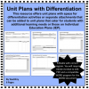 Unit Plan Templates with Differentiation/IEP