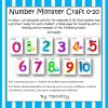 Number Monster Craft Teaching Resource 1-10