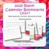 Calendar Bookmarks - Blank