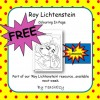 Roy Lichtenstein Free Colouring Page
