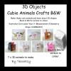 3D Cubie Creatures - B&W