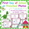 First Day of School/Preschool Posters
