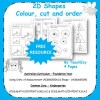 2D Shapes Colour Cut and Order