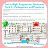 Left to Right Progression Sentences Pack 2