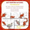 Dot Painting Outlines Free Resource