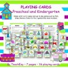 Playing Cards Preschool and Kindergarten