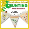 Australian Animal Bunting Free Resource