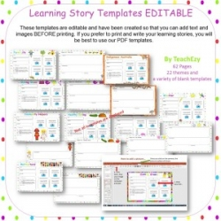 Eylf Learning Story Templates Editable Point