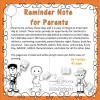 Reminder Notes for Parents