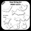 Easy String Art Outlines