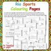 Rio Sports Colouring Pages