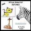 African Animal Art OUTLINES
