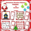 Christmas Number Match to 20 FREEBIE