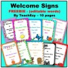 Welcome Signs FREEBIE