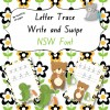 Letter Trace Write and Swipe NSW Font